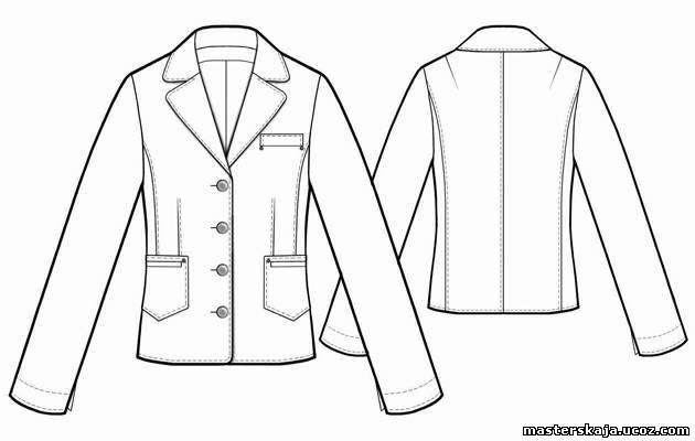 Джинсовый жакет - Выкройка #5480 Made-to-measure sewing pattern from Lekala with free